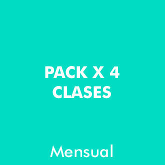 Pack 4 clases Mensuales