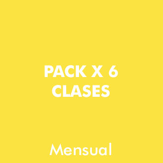 Pack 6 clases Mensuales