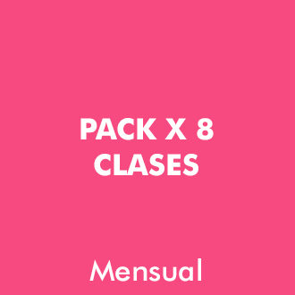 Pack 8 clases Mensuales
